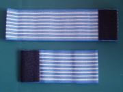 Голубой эластичный ремень шириной 80 мм и длиной 300 мм